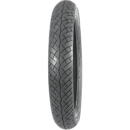 Bridgestone Battlax BT45 Front Tire 90/90-18 - BikeMaster Tube 2.75/3.00-18 Straight Metal Stem