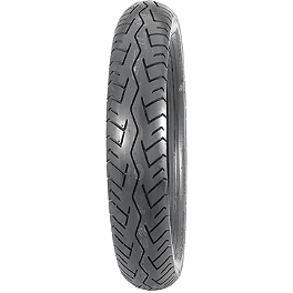Bridgestone Battlax BT45 Rear Tire 130/80-17 - Bridgestone Tube 80/90-21 Straight Metal Stem
