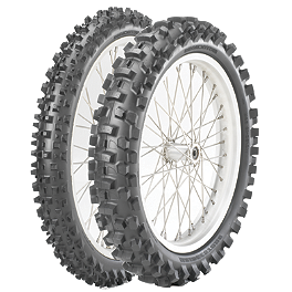 Bridgestone 125/250F Tire Combo - 2010 KTM 250XCFW Bridgestone M404 Rear Tire - 100/100-18