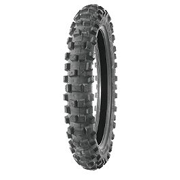 Bridgestone ED04 Rear Tire - 120/90-18 - 1991 Yamaha XT350 Michelin AC-10 Rear Tire - 120/90-18