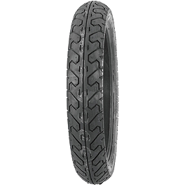 Bridgestone Spitfire S11 Front Tire - 100/90-19H - Dunlop Tube MJ/Mm90-19 Straight Metal Stem