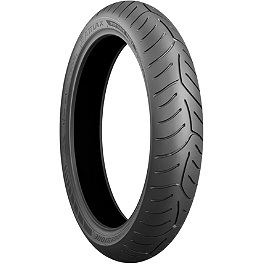 Bridgestone T30-GT Front Tire - 120/70ZR18 - Bridgestone Tube 80/90-21 Straight Metal Stem