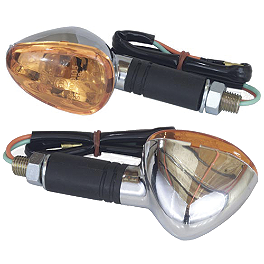 Cat Eye Mini Stalk Turn Signal - Cat Eye Side Mount Turn Signal Amber
