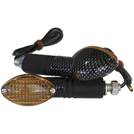 Cat Eye Mini Turn Signal Carbon Fiber - Cat Eye Mini Stalk Turn Signal