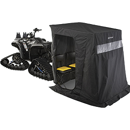 Cycle Country Ice Captain One Seater Ice Shelter - 2008 Suzuki KING QUAD 400FS 4X4 SEMI-AUTO Cycle Country Bearforce Pro Series Plow Combo