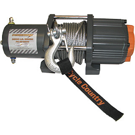 Cycle Country Power Maxx Winch - 3,500 Pound - 2010 Honda RANCHER 420 4X4 ES Cycle Country Bearforce Pro Series Plow Combo