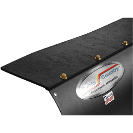 "Cycle Country Universal Rubber Plow Blade Flap - 48"" - 72"" - Blingstar Vertical Suicide Doors - Textured Black"