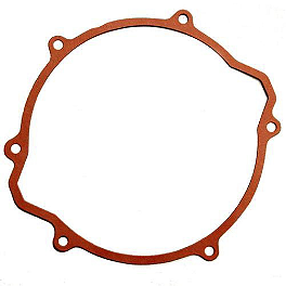 Newcomb Clutch Cover Gasket - 2004 Kawasaki KX125 Boyesen Clutch Cover - Black