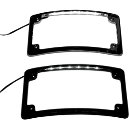 Custom Dynamics LED License Plate Frame - Puig Plastic License Plate Light