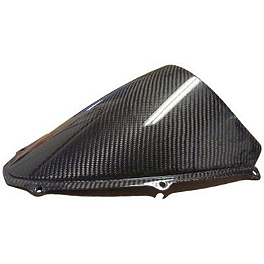 Carbon Fiber Works Carbon Fiber Windscreen - Sportech V-Flow Series Windscreen - Carbon Look