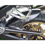 Carbon Fiber Works Carbon Rear Tire Hugger With Chain Guard - Carbon Fiber Works Motorcycle Body Parts