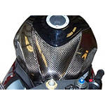 Carbon Fiber Works Carbon Fiber Tank Cover - Carbon Fiber Works Motorcycle Body Parts