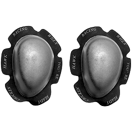 Chicken Hawk Racing Knee Sliders - Scorpion Hurricane Knee Puck - Pair