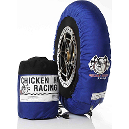 Chicken Hawk Pole Position Tire Warmers - 110-120 / 155-170 - Michelin Power Supersport Front Tire - 120/70ZR17