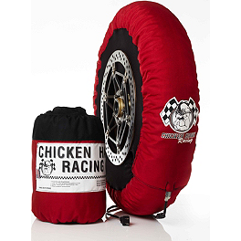 Chicken Hawk Standard Tire Warmers - 110-120 / 180-205 - Alpinestars GP Knee Slider - Black