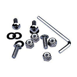 Chrome License Plate Hardware - Lockhart Phillips License Plate Screw Kit - 4 Pack