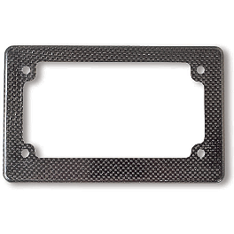 Carbon Works Molded Carbon License Plate Frame - Honda Genuine Accessories Carbon Fiber License Plate Frame