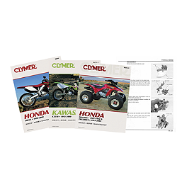 Clymer Service Manual - 1995 Honda CB250 - Nighthawk Vesrah Racing Semi-Metallic Brake Shoes - Front