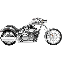 "Cobra 3"" Slip-On Exhaust - 2010 Honda Fury 1300 - VT1300CX Vance & Hines Twin Slash PowerChamber Equipped Slip-On Exhaust - Chrome"