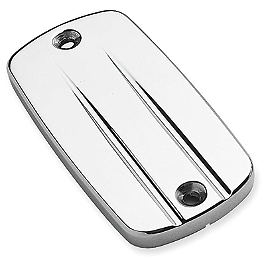 Cobra Brake Reservoir Cover - Swept - 2006 Honda VTX1800F2 Cobra Front Floorboards Swept - Chrome