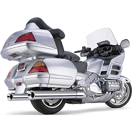 Cobra Billet Tips Slip-On Exhaust - 2010 Honda Gold Wing Airbag - GL1800 Cobra Scalloped Tip Slip-On Exhaust
