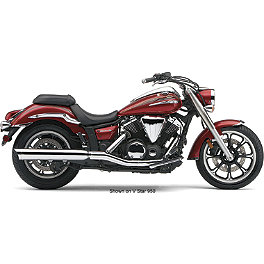 Cobra Billet Tips Slip-On Exhaust - 2013 Yamaha V Star 950 - XVS95 Cobra Power Pro HP 2 Into 1 Exhaust