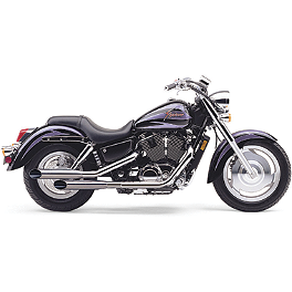 Cobra Classic Deluxe Slashcut Exhaust - 2006 Honda Shadow Sabre 1100 - VT1100C2 Cobra Sissy Bar Luggage Rack - Chrome