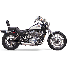 Cobra Classic Slashcut Exhaust - 1988 Honda Shadow 1100 - VT1100C Cobra Headlight Visor - 7 1/2
