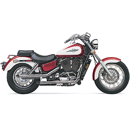 Cobra Drag Pipe Exhaust - 1997 Honda Shadow ACE 1100 - VT1100C2 Cobra Front Floorboards Swept - Chrome