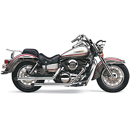 Cobra Drag Pipe Exhaust - 2008 Kawasaki Vulcan 1600 Mean Streak - VN1600B Cobra Front Floorboards Swept - Chrome