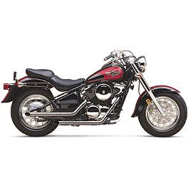 Cobra Drag Pipe Exhaust - 1997 Kawasaki Vulcan 800 Classic - VN800B Cobra Front Floorboards Swept - Chrome