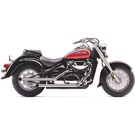 Cobra Drag Pipe Exhaust - 2008 Suzuki Boulevard M50 SE - VZ800Z Cobra Front Floorboards Swept - Chrome