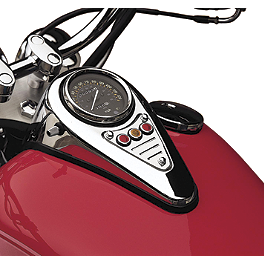 Cobra Dash Plaque - Fluted - 2010 Kawasaki Vulcan 900 Classic - VN900B Cobra Lightbar - Chrome