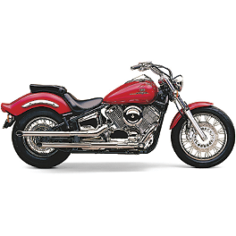 Cobra Drag Pipe Slip-On Exhaust - 2000 Yamaha V Star 1100 Classic - XVS1100A Cobra Headlight Visor - 7 1/2