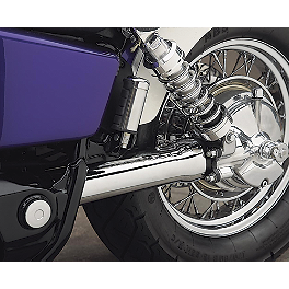 Cobra Driveshaft Cover - 1995 Honda Shadow ACE 1100 - VT1100C2 Cobra Front Floorboards Swept - Chrome