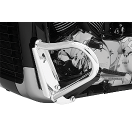 Cobra Engine Case Guards - Chrome - 2012 Yamaha Raider 1900 S - XV19CS Cobra Sissy Bar Luggage Rack - Chrome