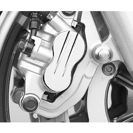 Cobra Front Brake Caliper Cap - Swept - 2004 Honda Shadow Spirit 1100 - VT1100C Cobra Billet Driveshaft Bolt Cover - Fluted