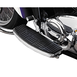 Cobra Front Floorboards - Chrome - MC Enterprises Floorboards With Heel Toe Shifter