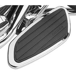 Cobra Front Floorboards Swept - Chrome - Cobra Passenger Floorboards - Swept Chrome