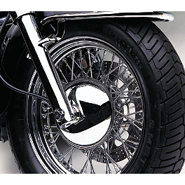 Cobra Front Hub Cover - 1999 Honda Shadow ACE Tourer 1100 - VT1100T Cobra Front Floorboards Swept - Chrome