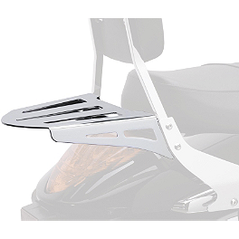Cobra Formed Sissy Bar Luggage Rack - Chrome - 1996 Kawasaki Vulcan 800 - VN800A Cobra Front Floorboards Swept - Chrome