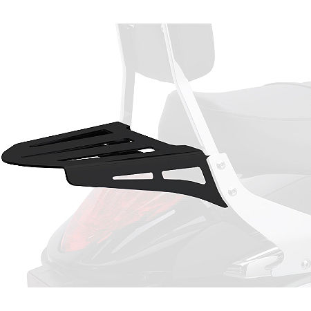 Cobra Formed Sissy Bar Luggage Rack - Black - Main