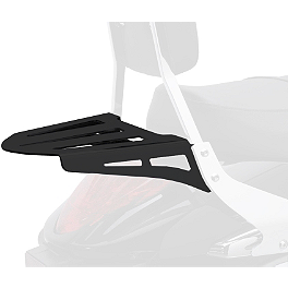 Cobra Formed Sissy Bar Luggage Rack - Black - 2001 Yamaha V Star 650 Classic - XVS650A Cobra Saddlebag Supports - Chrome