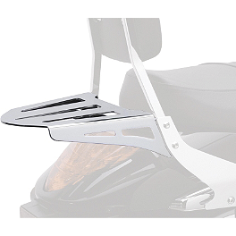 Cobra Formed Sissy Bar Luggage Rack - Chrome - 2008 Yamaha V Star 1100 Custom - XVS11 Cobra Headlight Visor - 7 1/2
