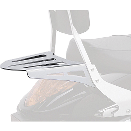 Cobra Formed Sissy Bar Luggage Rack - Chrome - 2004 Yamaha Road Star 1700 Warrior - XV17PC Cobra Headlight Visor - 7 1/2