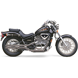 Cobra Fatty Shotgun Exhaust - 2007 Honda Shadow VLX Deluxe - VT600CD Cobra Sissy Bar Luggage Rack - Chrome