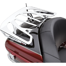 Cobra Formed Trunk Rack - Chrome - 2009 Kawasaki Vulcan 1700 Voyager - VN1700A Cobra Touring Slip-On Muffler With Billet Tips