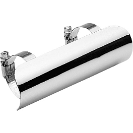 Cobra Universal Heat Shield Assembly - 2012 Kawasaki Vulcan 1700 Vaquero - VN1700J Cobra Touring Slip-On Muffler With Billet Tips
