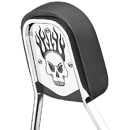 Cobra Steel Sissy Bar Insert - Skull - Cobra Scalloped Tip Slip-On Exhaust - Black