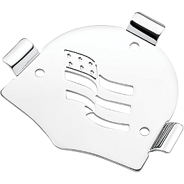 Cobra Steel Sissy Bar Insert - Flag - Cobra Brake Reservoir Cover - Fluted